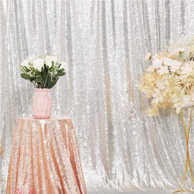 Silver Sequin Backdrop 2