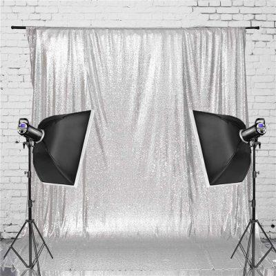 Silver Sequin Backdrop 3