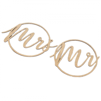 Mr and Mrs Circle Sign