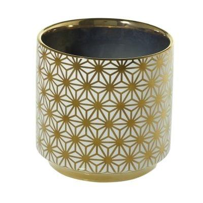 Spade Pot Gold Flower 4.5x4.5 3