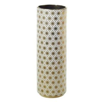 Spade Vase Gold Flowers 4x12